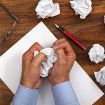 scrunched paper