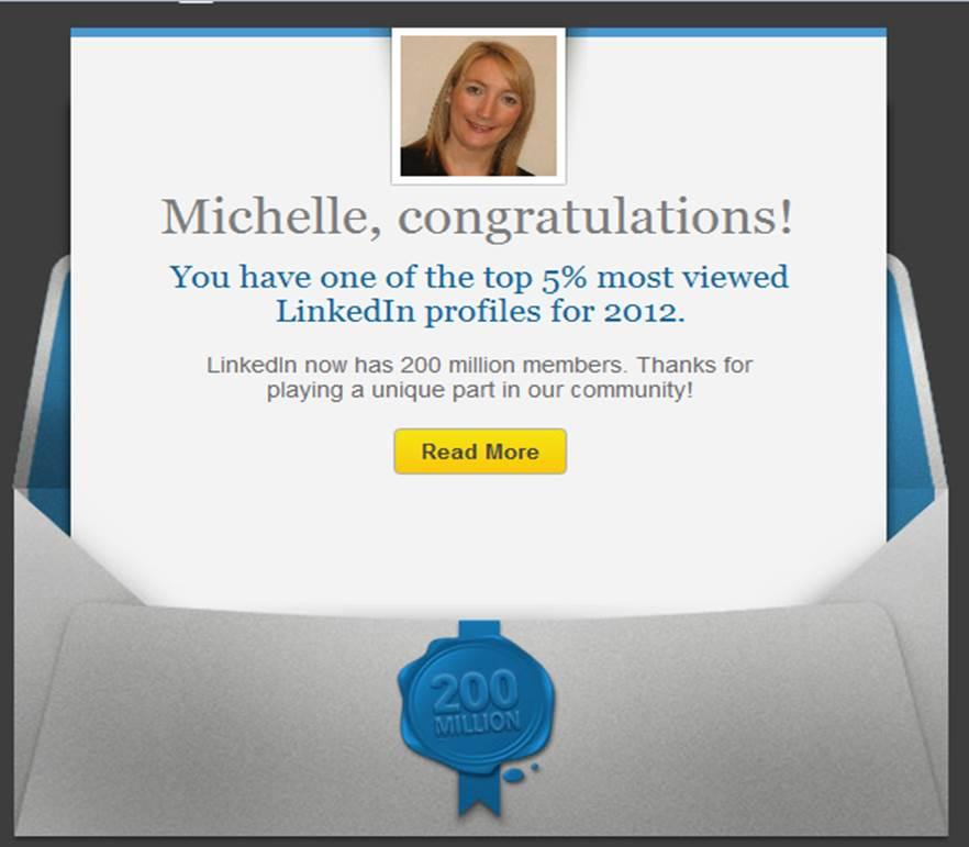 LinkedIn Top 5% User Profile