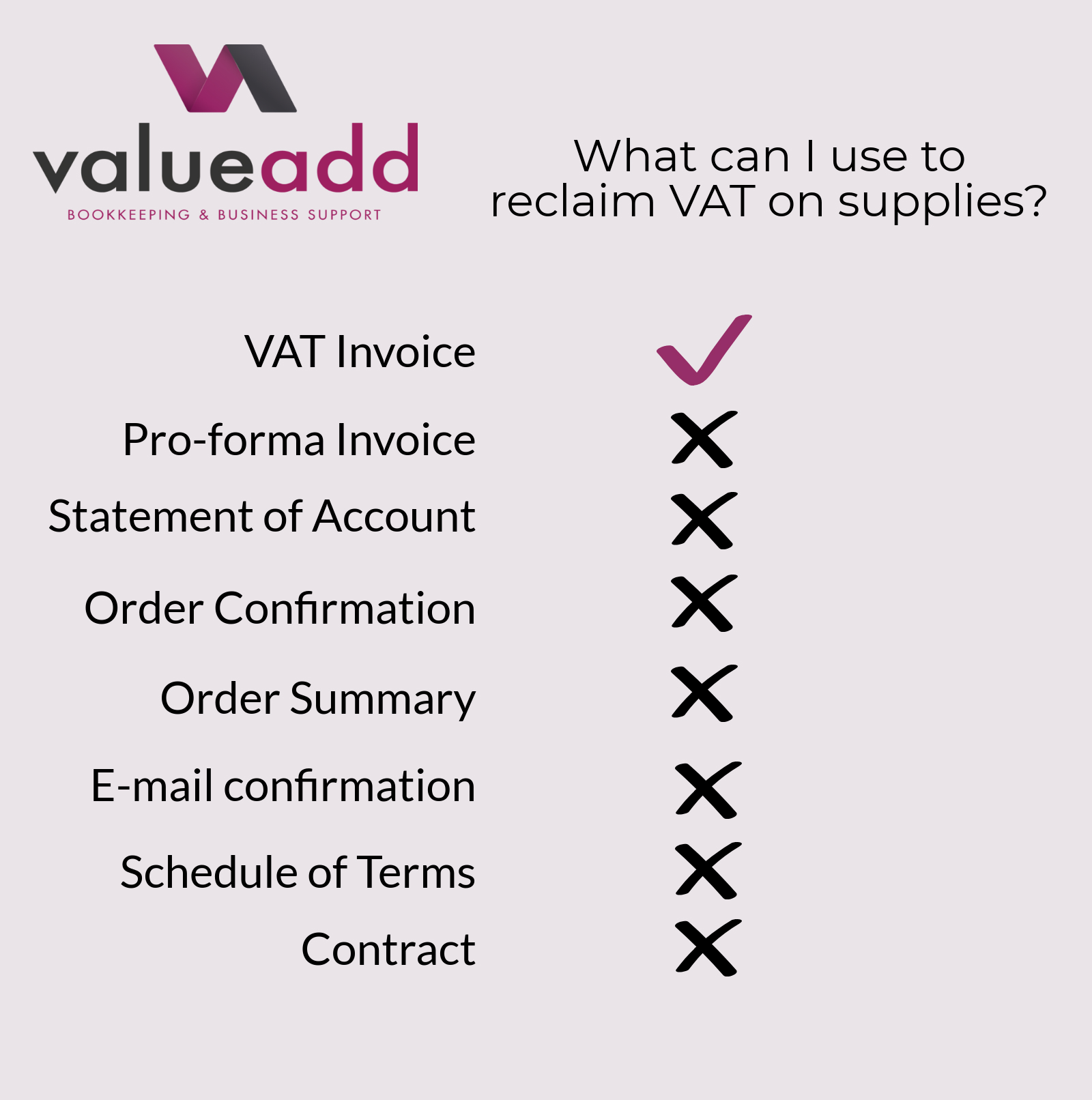 What can I use to reclaim VAT?